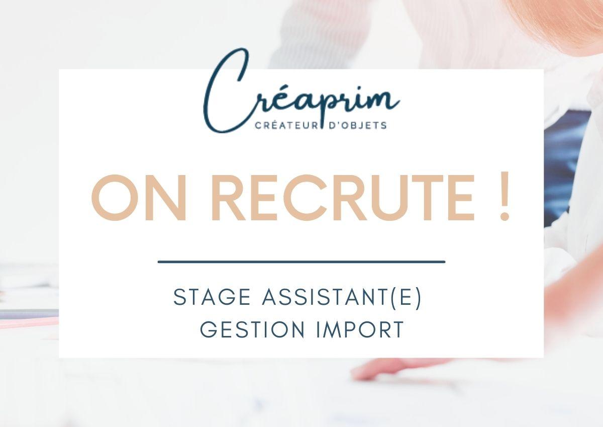 Offre de stage : Assistant(e) Gestion Import